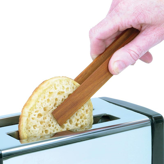 toast tongs and toaster