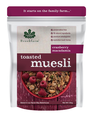 Toasted Macadamia Muesli with Cranberry - 1.5kg