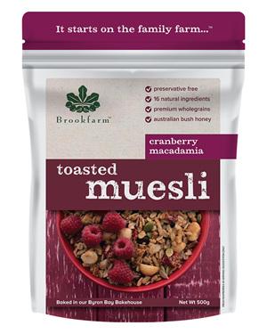 Toasted Macadamia Muesli with Cranberry - 500g