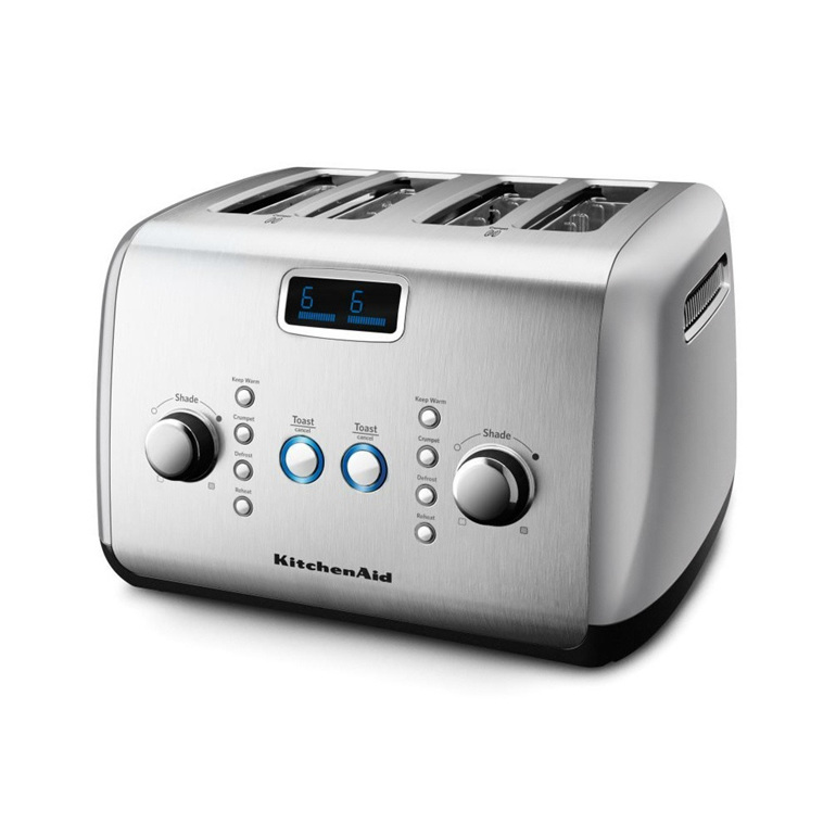 Toaster - 4 Slice, Contour Silver