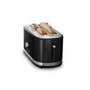 Toaster - 4 Slice/Long Slot, Onyx Black