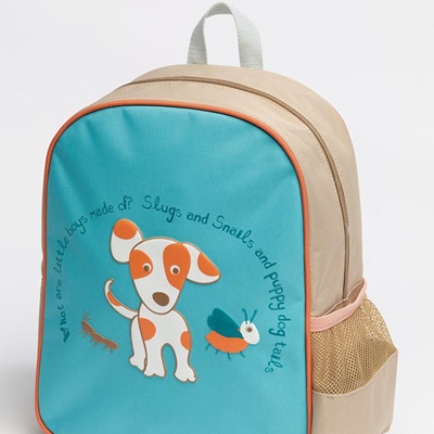 Oliver the puppy Toddler back pack