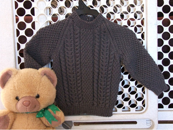 Toddlers Cable Knit Jumper - Gark Grey