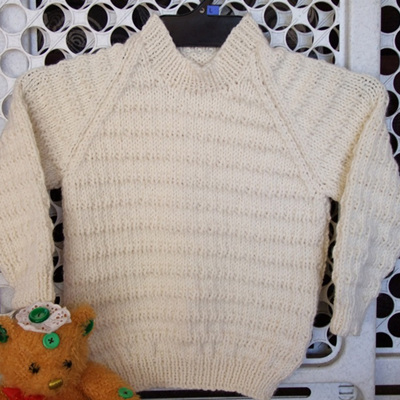 Toddlers Cable Knit Jumper - Natural