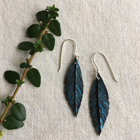 Tomtit Earrings with Blue