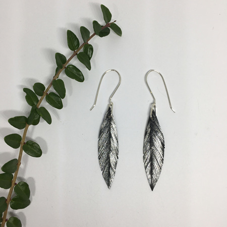 Tomtit Earrings with Silver