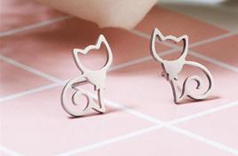 """TONIA"" Purrr-fect Cat Earrings"