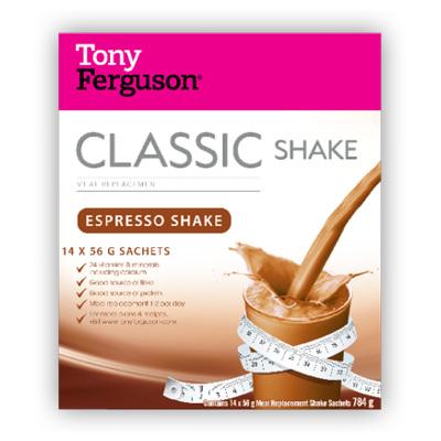 Tony Ferguson Classic Shake Espresso 14 Pack