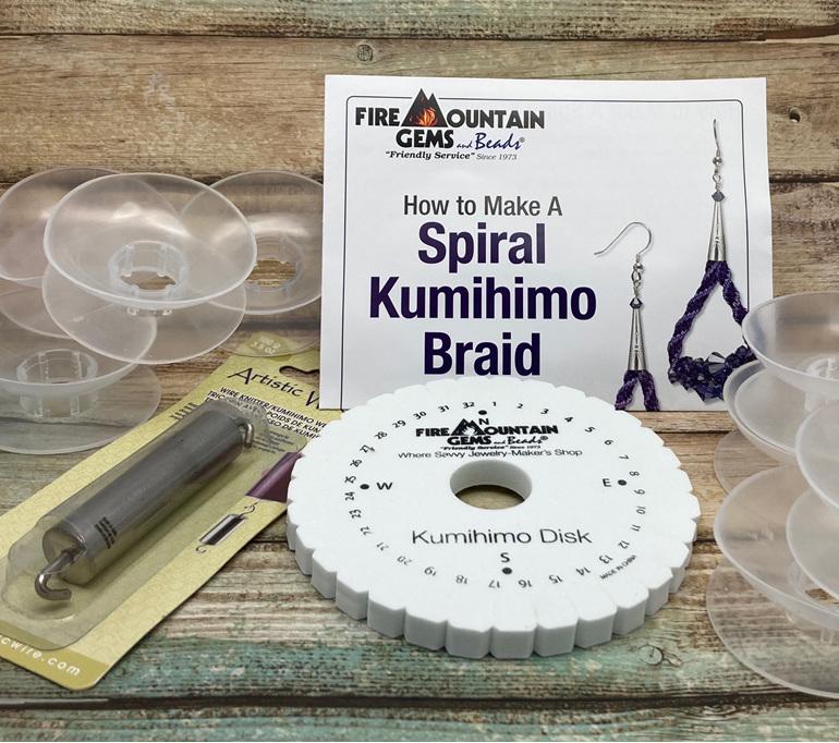 Tools used to create Kumihimo braids
