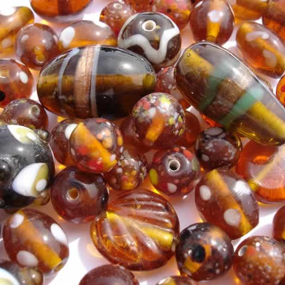 Topaz Fancy Bead Mix