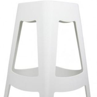 Tori Bar Stool White 68cm