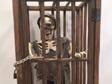 torture cage prop, skeleton, pirate prop, halloween prop, skeleton prop