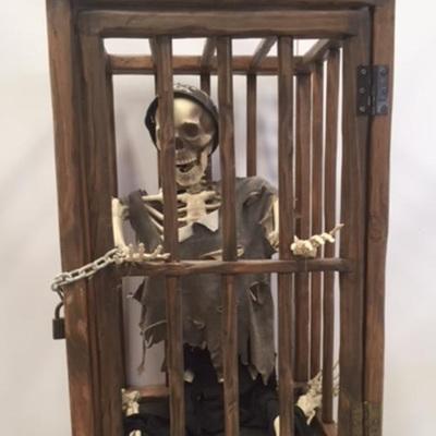skeleton cage
