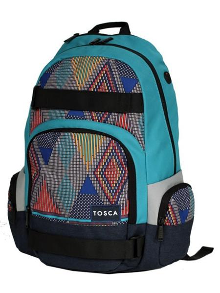 Tosca Back Pack Turquoise  Aztec Print TCA920