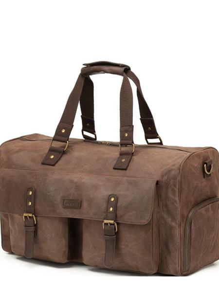 Tosca  Waxed Canvas Duffel Bag Brown WC011