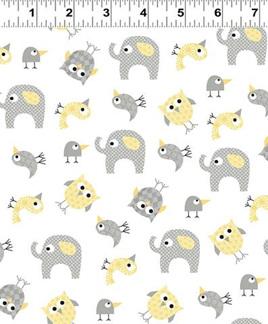 Tossed Animals in Dark Butter - Y2145-60