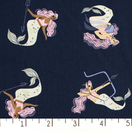 Tossed Mermaids in Blueberry 1424