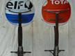 Total / Elf Oil Drum Bar Stools