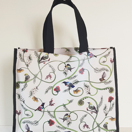 Tote Bag - Floral Birds NZ