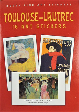 Toulouse-Lautrec: 16 Art Stickers