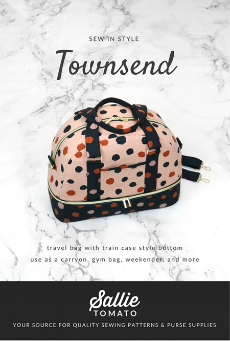 Townsend Travel Bag Pattern from Sallie Tomato