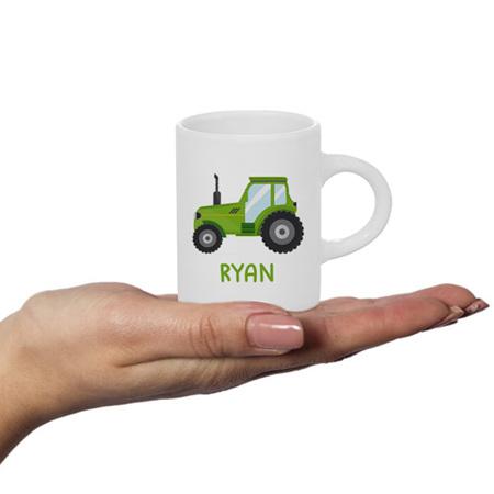 Tractor Personalised Fluffy Mug
