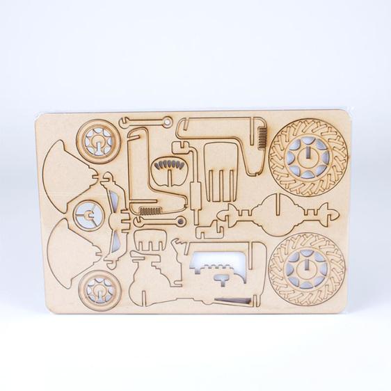 tractor puzzle flatpack