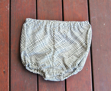 Traditional Style Bloomers, 'Thicket White', 100% Cotton, 3-6m