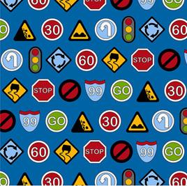 Traffic Jam - 3405-001  SIGNS-BLUE
