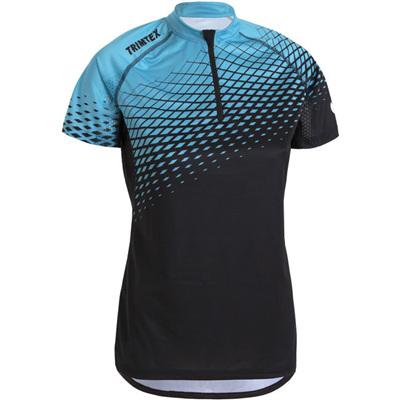 Trail Womens Shirt, Black/Turquoise