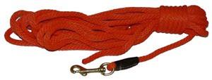 "Training Leash Check Cord 3/8"" Orange"