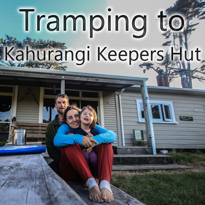 tramping to kahurangi keepers hut with baby