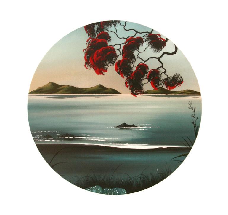 Tranquility Pohutukawas by Debbie Morgan.