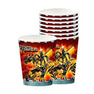Transformers 3 party Cup pack of 8