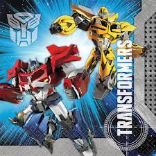 Transformers   - Lunch Napkins x 16 - NEW