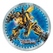 Transformers plates - 23cm x 8
