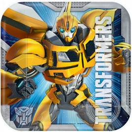Transformers plates - square x 8