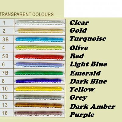 Transparent Seed Beads 6/0 - Grey
