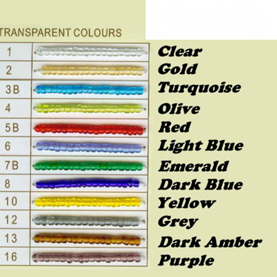 Transparent Seed Beads 6/0 - Turquoise