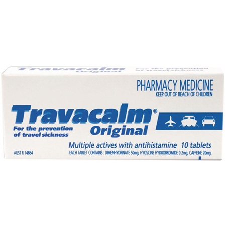 TRAVACALM ORIG 10 TABS