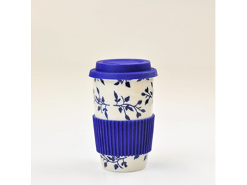 Travel Mug-Royal Blue Vine
