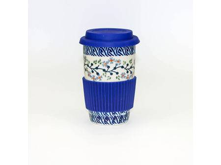 Travel Mug-Sea And Garden