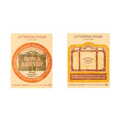 TRAVELER'S COMPANY Travel Tools - letterpress sticker