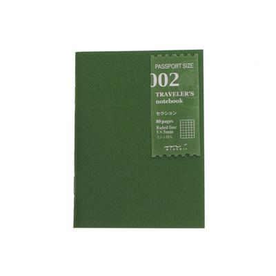 Traveler's Notebook 002 Grid Passport Size