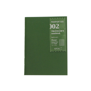 Traveler's Notebook 002 Grid Passport Size