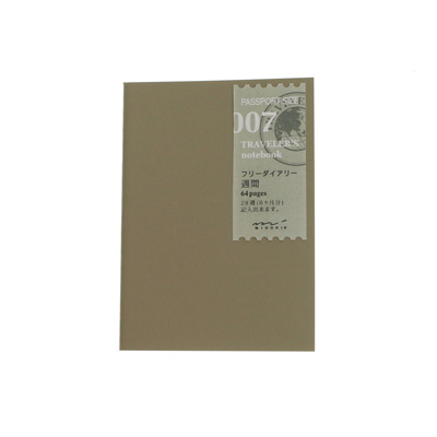 TRAVELER'S notebook 007 Free Diary Weekly Passport Size