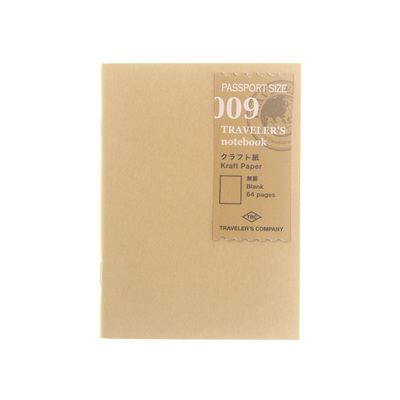 Traveler's Notebook 009 Kraft Paper Passport Size
