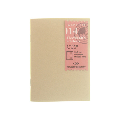 Traveler's Notebook 014 Dot Grid Passport Size