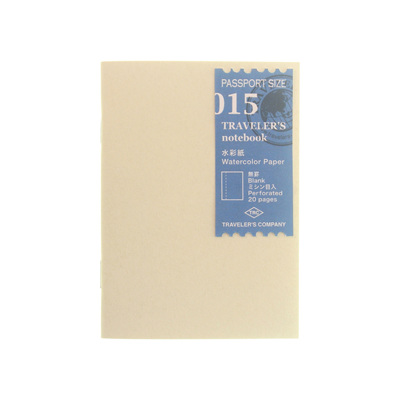 Traveler's Notebook 015 Watercolor Paper Passport Size