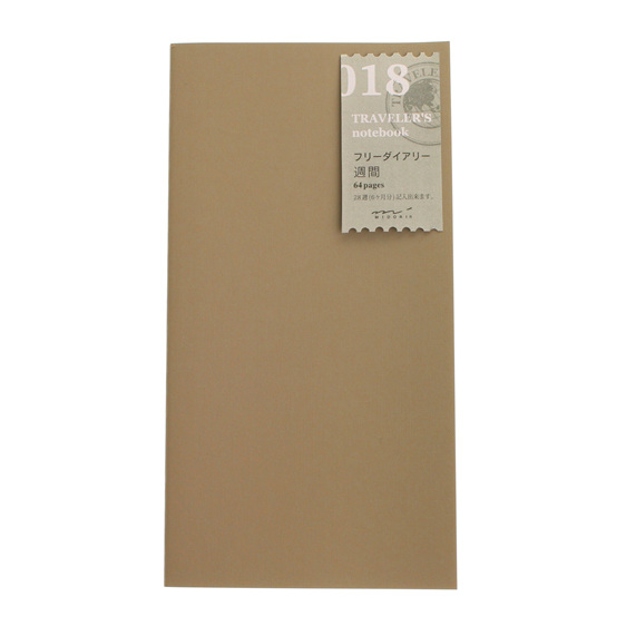 TRAVELER'S notebook 018 Free Diary - Weekly Vertical